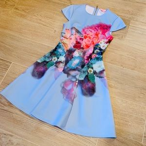 Ted Baker London floral fit and flare dress